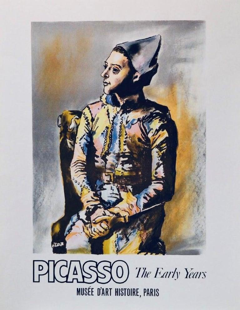 Pablo Picasso Portrait Print - Poster (Reproduction)-The Early Years, Musée D'Art Histoire, Paris