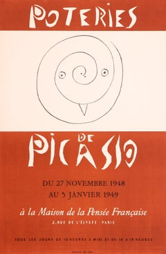 Poteries de Picasso by Pablo Picasso, Lithographic Poster, 1948