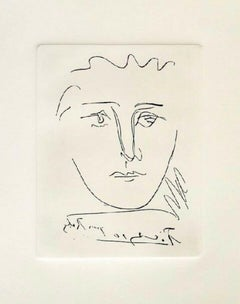 Pour Roby, 1969 Limited Edition Etching, Pablo Picasso