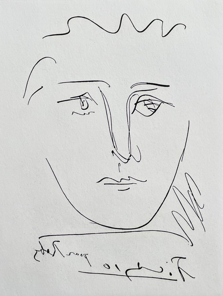 Pour Roby, Limited Edition Etching, Pablo Picasso - Cubist Print by Pablo Picasso