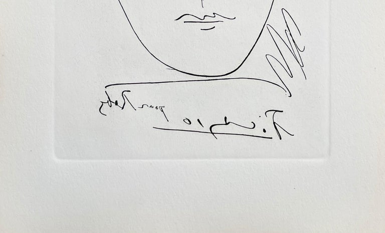 Pour Roby, Limited Edition Etching, Pablo Picasso - Gray Figurative Print by Pablo Picasso