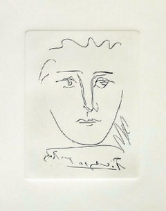 Pour Roby, Limited Edition Etching, Pablo Picasso