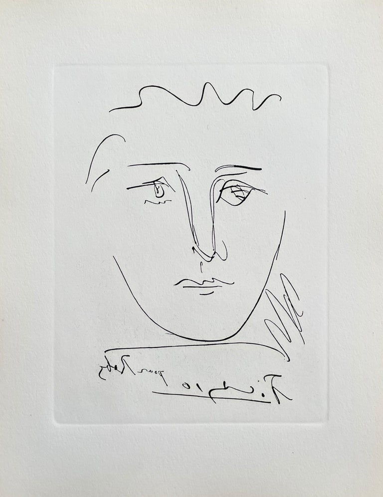 Pour Roby, Limited Edition Etching, Pablo Picasso - Print by Pablo Picasso