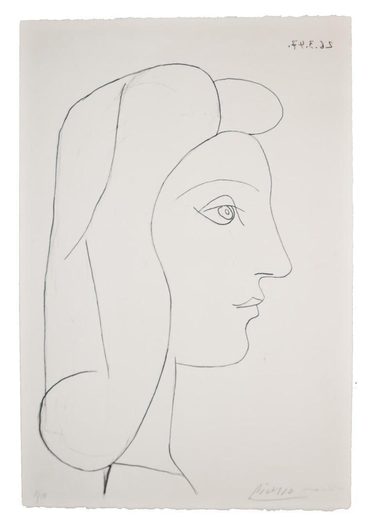 Pablo Picasso Figurative Print - Profil de Femme Bloch 436