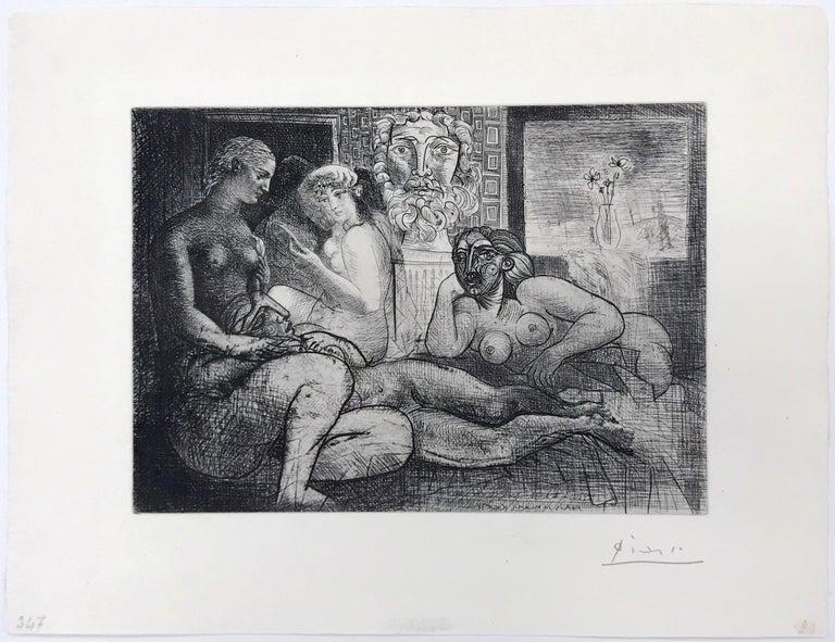 QUATRE FEMMES NUES ET TETE SCULPTEE (BLOCH 219) - Print by Pablo Picasso