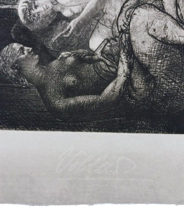 QUATRE FEMMES NUES ET TETE SCULPTEE (BLOCH 219) - Cubist Print by Pablo Picasso