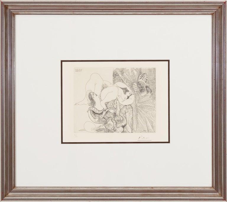 Raphael et La Fornarina - Cubist Print by Pablo Picasso