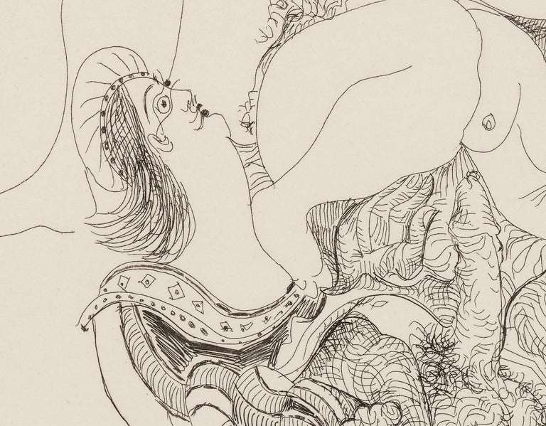 Raphael et La Fornarina - Beige Figurative Print by Pablo Picasso