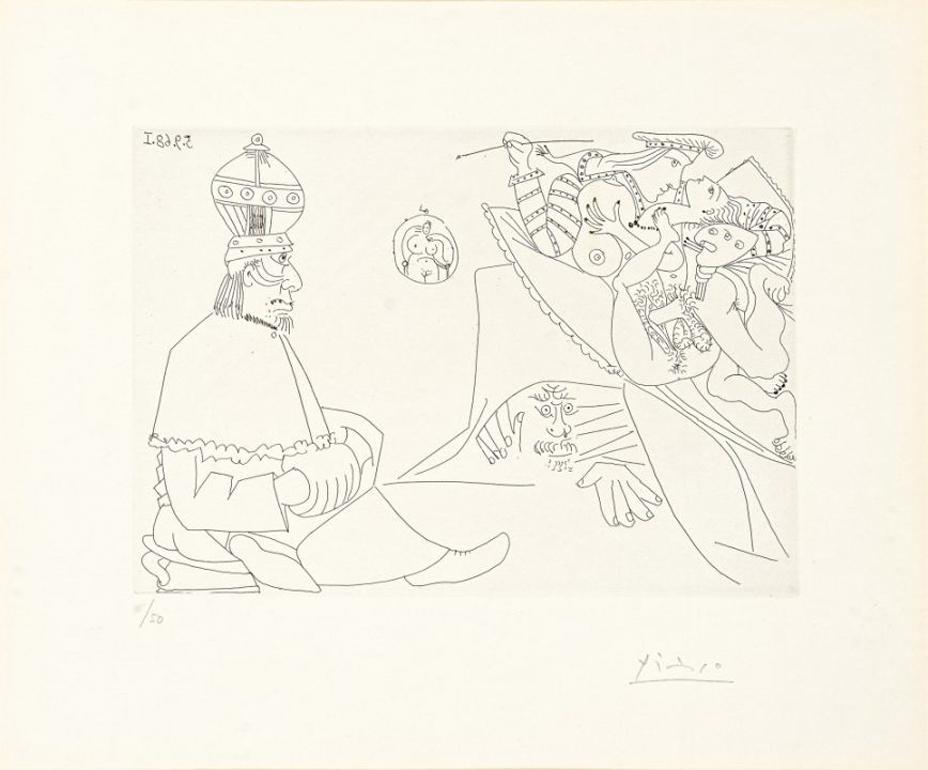 Raphael et la Fornarina XIX (from Series 347)