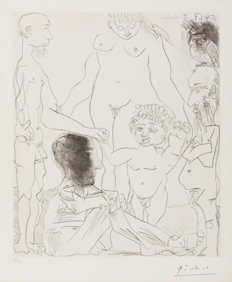 Pablo Picasso Nude Print - Reflexion du Peintre sur la Vie (Reflection of the Painter on Life)