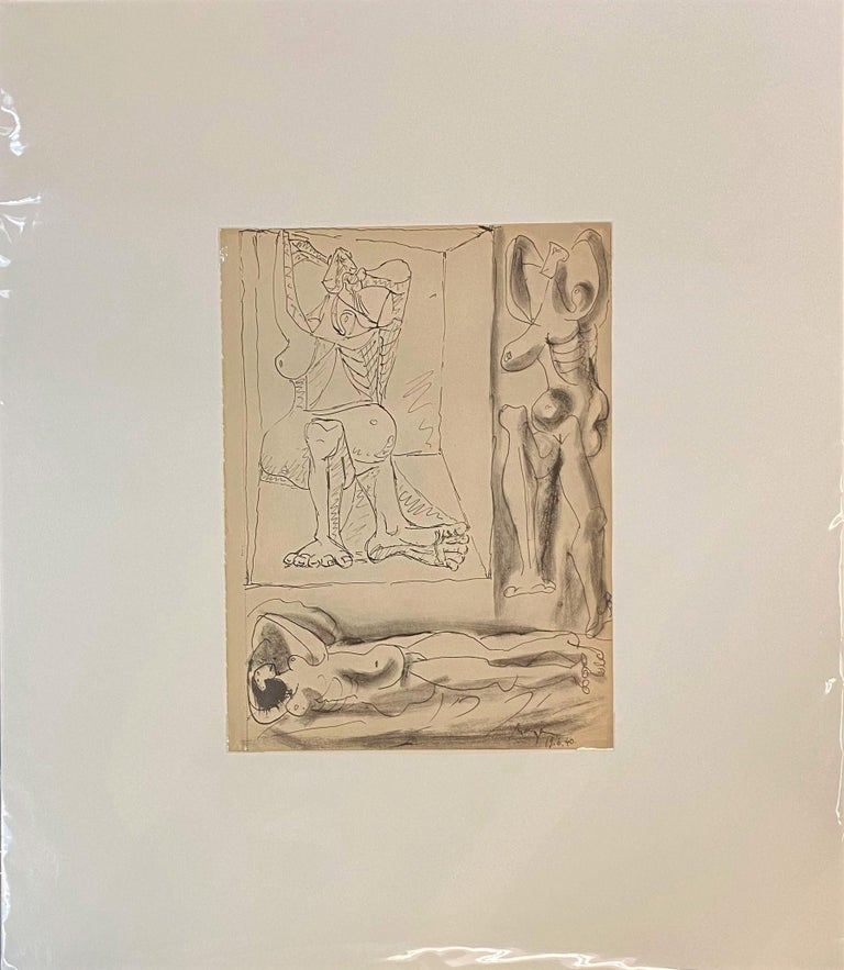 Royan Lithograph 19.6.40 - Print by Pablo Picasso