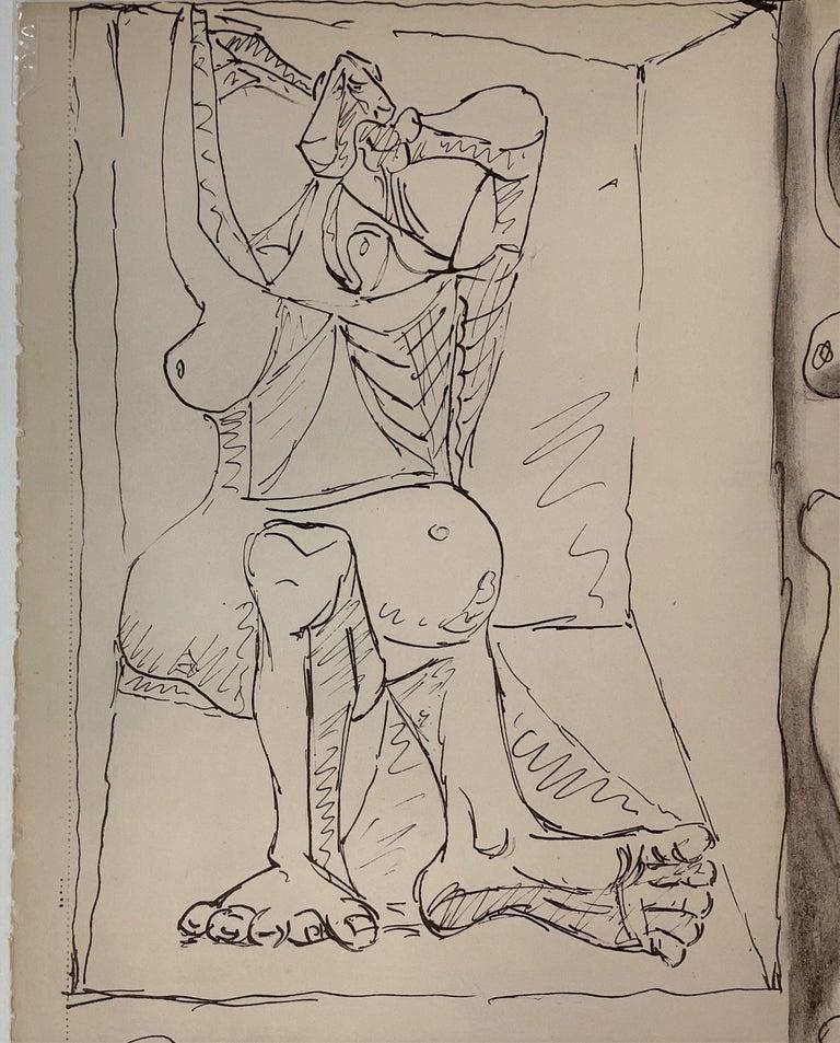 Royan Lithograph 19.6.40 - Cubist Print by Pablo Picasso