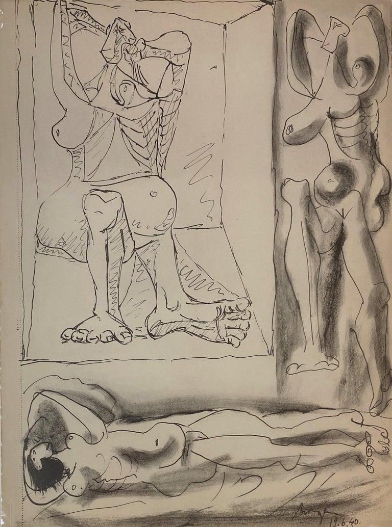 Pablo Picasso Figurative Print - Royan Lithograph 19.6.40