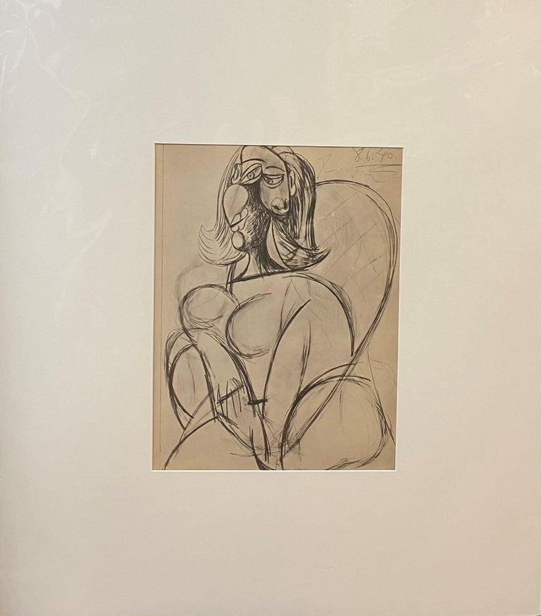 Royan Lithograph 8.6.40 - Print by Pablo Picasso