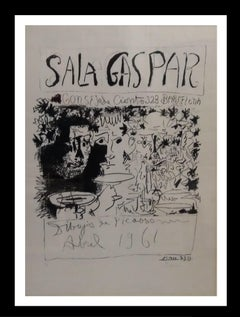 >Sala  Gaspar . original lithograph signed by hand painting