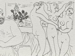 Sculpteur et trois danseuses sculptées (Suite Vollard Planche LXXXI)