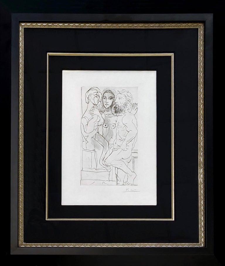 SCULPTEUR, MODELE, ET SCULPTURE ASSISE (BLOCH 146) - Print by Pablo Picasso