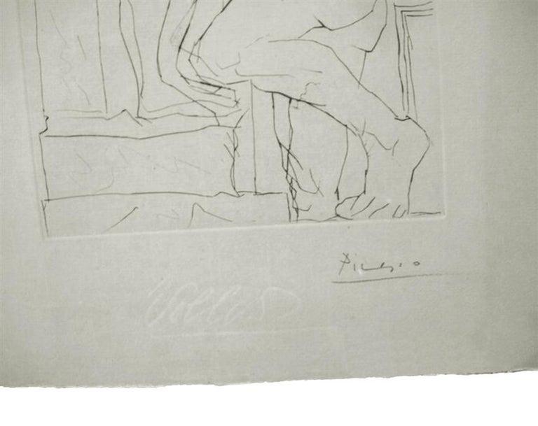 SCULPTEUR, MODELE, ET SCULPTURE ASSISE (BLOCH 146) - Cubist Print by Pablo Picasso