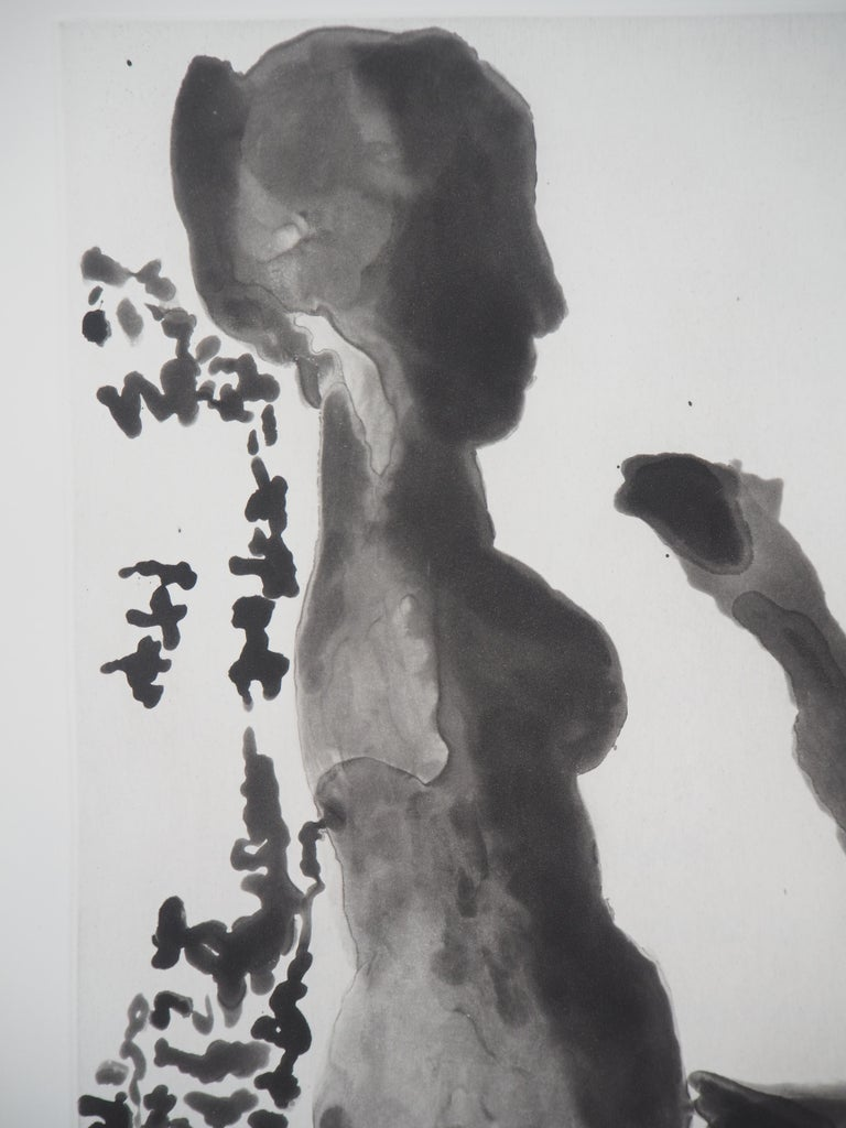 Sculptor before His Sculpture Stand - Original Aquatint Etching (Bloch #1191) - Modern Print by Pablo Picasso