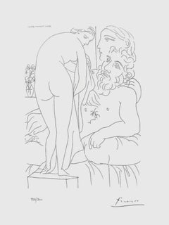 Sculptor, Model, and Statue of Nude (The Vollard Suite)