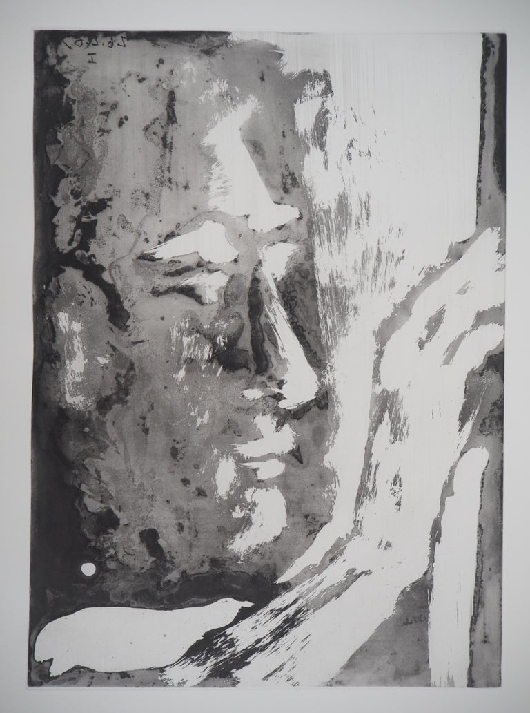 Sculptor - Original Aquatint Etching (Bloch #1192) - Modern Print by Pablo Picasso