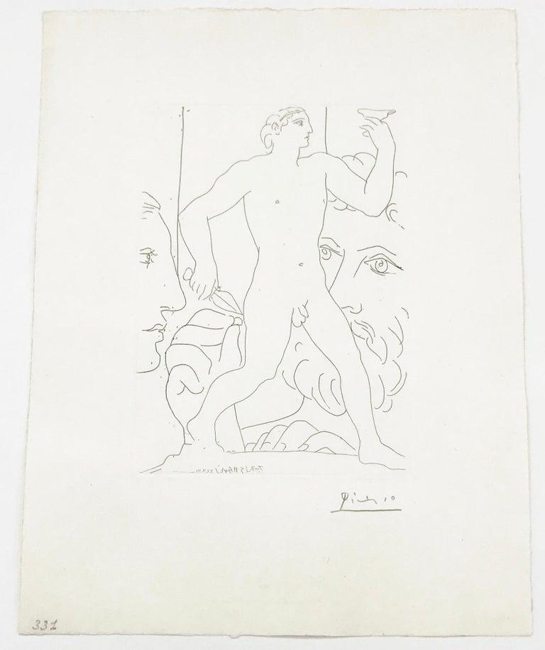 SCULPTURE D'UN JEUNE HOMME A LA COUPE (BLOCH 179) - Print by Pablo Picasso