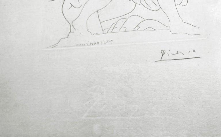 SCULPTURE D'UN JEUNE HOMME A LA COUPE (BLOCH 179) - Cubist Print by Pablo Picasso