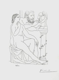Seated Model and Sculptor Studying (The Vollard Suite)