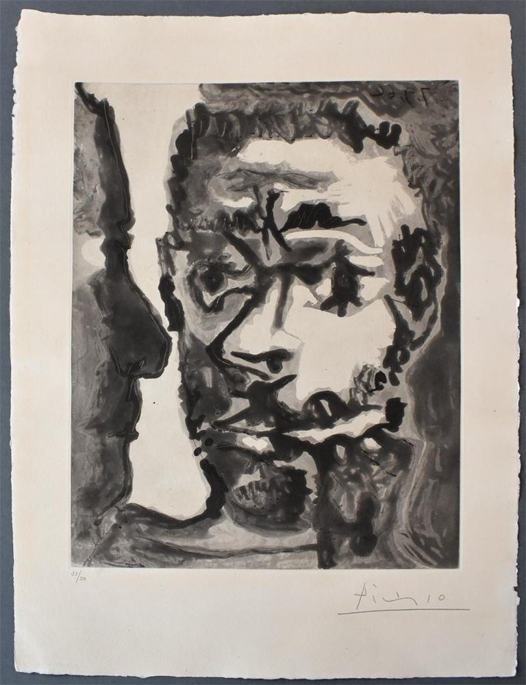 Smoker with a Man  Fumeur avec un homme, Smoking Sailor France - Print by Pablo Picasso