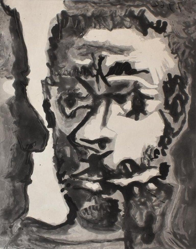 Pablo Picasso Portrait Print - Smoker with a Man  Fumeur avec un homme, Smoking Sailor France