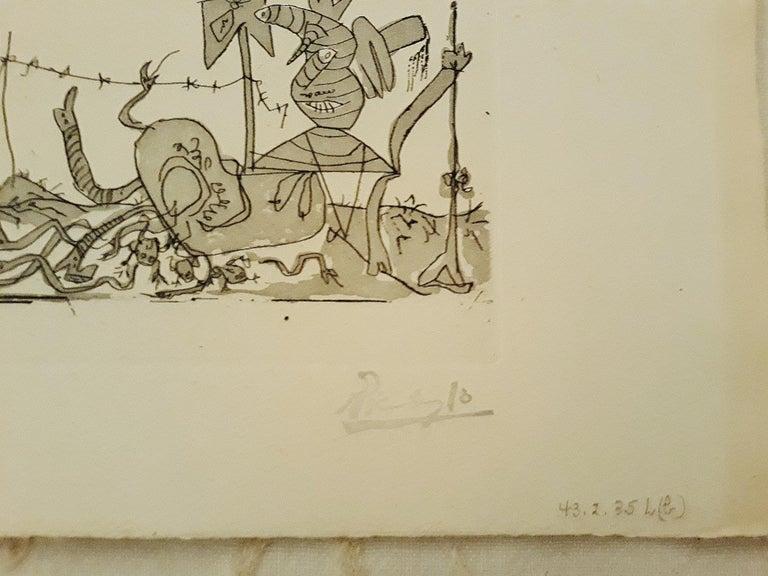 Sueño y Mentira de Franco - Original Etchings and Aquatints by P. Picasso - 1937 For Sale 6