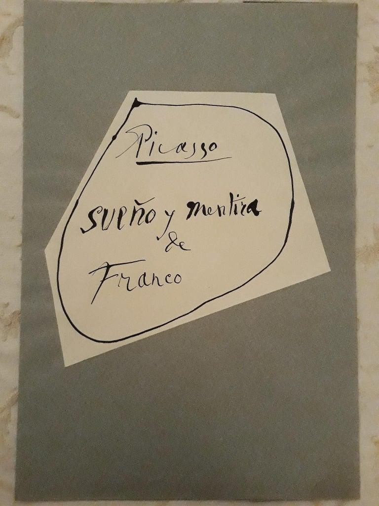 Sueño y Mentira de Franco - Original Etchings and Aquatints by P. Picasso - 1937 - Beige Print by Pablo Picasso
