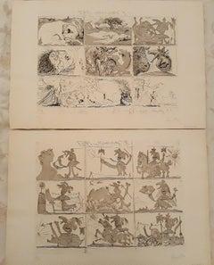 Sueño y Mentira de Franco - Original Etchings and Aquatints by P. Picasso - 1937