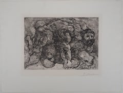 Suite Vollard (plate 32) The Lovers - Original etching and Aquatint, Handsigned