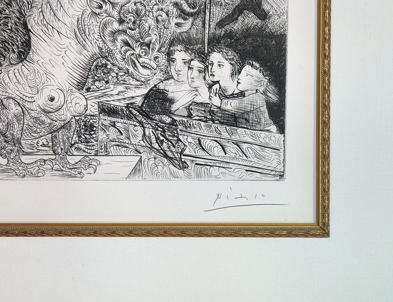TAUREAU AILE CONTEMPLE PAR QUATRE ENFANTS (BLOCH 229) - Print by Pablo Picasso