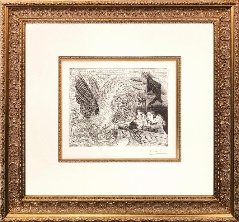 Pablo Picasso Animal Print - TAUREAU AILE CONTEMPLE PAR QUATRE ENFANTS (BLOCH 229)