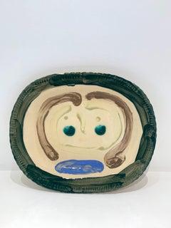 Tête de femme, by Pablo Picasso, Plate, Sculpture, Design, Ceramic, Earthenware