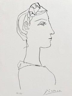 Tête de femme de profil (Suite Gongora Planche XIX)