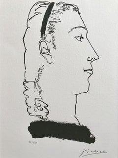 Tête de femme hautaine avec un bandeau dans les cheveux (Gongora Planche III)