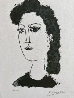 Tête de femme (Suite Gongora Planche XVIII)
