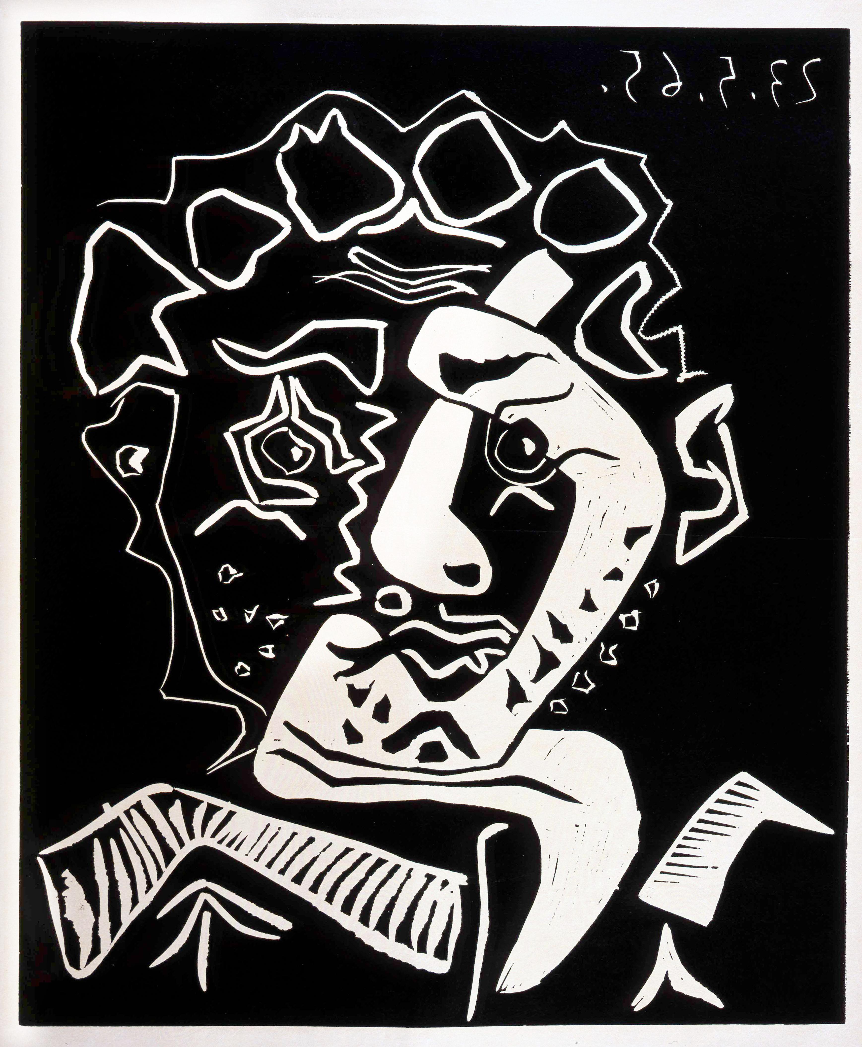 Jacqueline au Bandeau de Face 1939 by Pablo Picasso Art Print Poster Museum