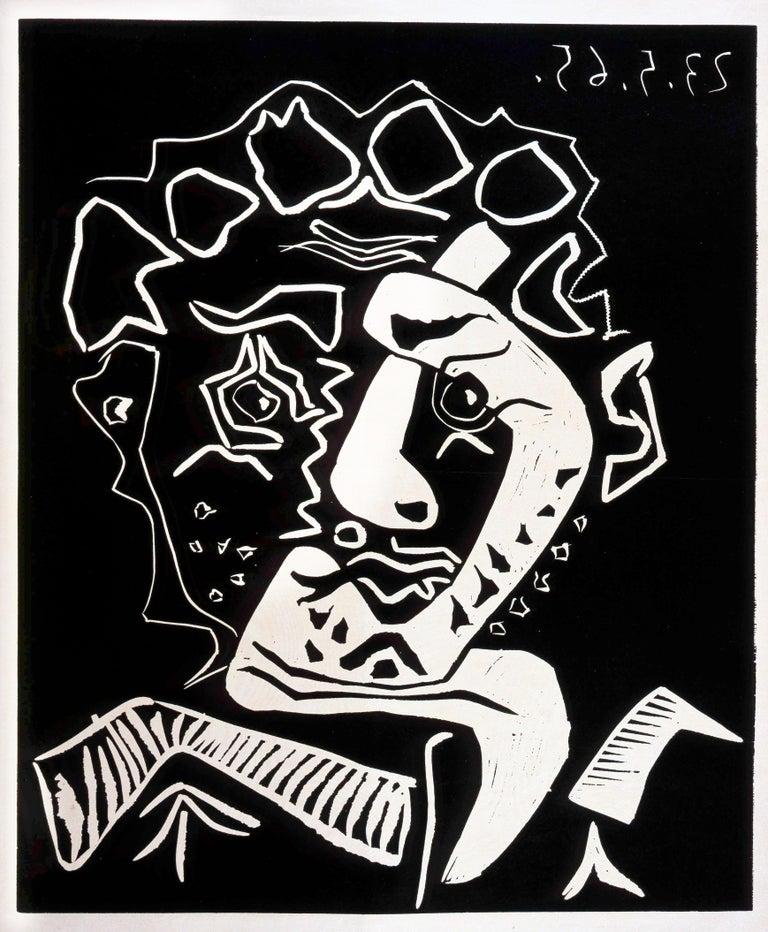 Pablo Picasso Portrait Print - Tête d'Histrion Bloch 1849