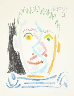 Tete D'Homme Au Maillot Raye (Man's Head With Striped Shirt), 1964