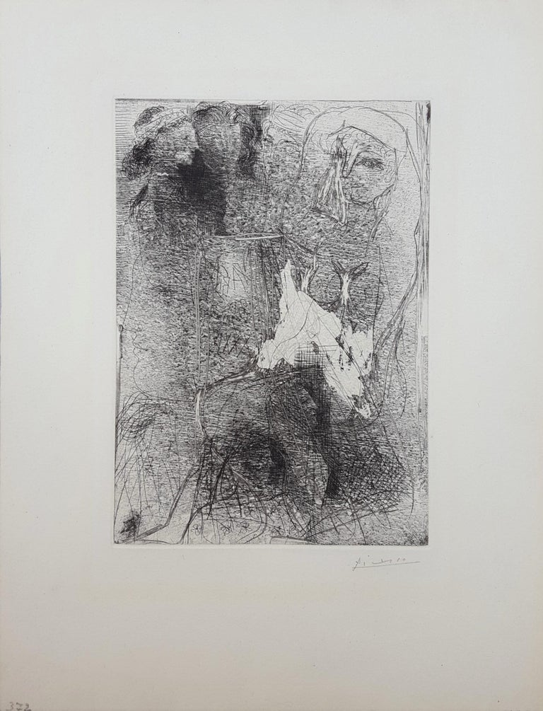 Têtes et Figures Emmêlées (Tangled Heads and Figures) - Print by Pablo Picasso