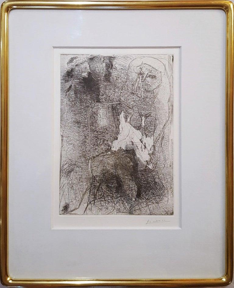 Têtes et Figures Emmêlées (Tangled Heads and Figures) - Cubist Print by Pablo Picasso