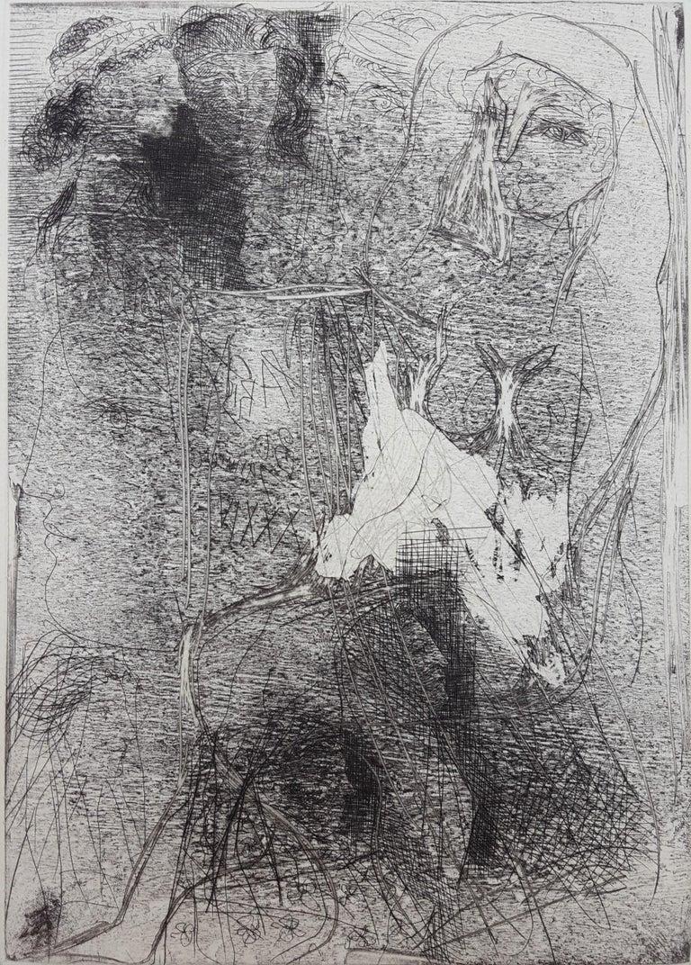Pablo Picasso Figurative Print - Têtes et Figures Emmêlées (Tangled Heads and Figures)