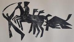 The Return of the Bull - La rentrée du Taureau - Spanish Art, Bullfight