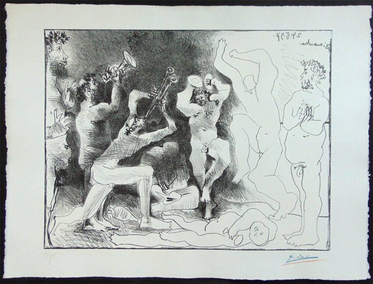 This original lithograph is hand signed in blue and red coloured pencil by the artist