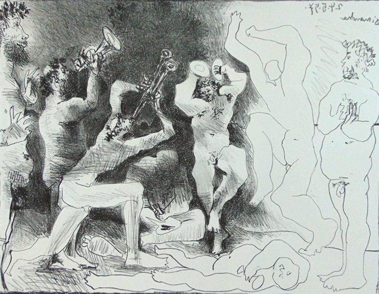Pablo Picasso Figurative Print - The Dance of the Fauns  La Danse des Faunes - Roman Mythology Celebration