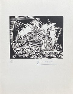 The Dove (Le Pigeonneau) - Original Linocut Hand Signed & Numbered (Bloch #326)